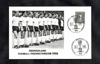 1966 Football World Cup England v Germany Postal Cover Soccer German Team Gift ?