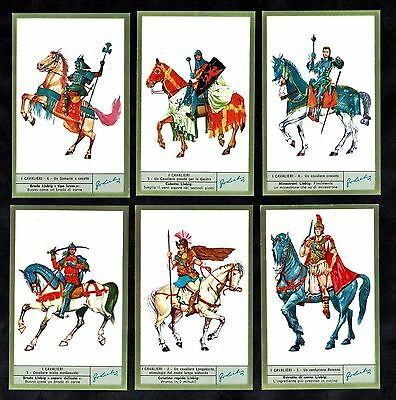 Ancient Cavalry Liebig Card Set 1970 War Military Italian Horses Soldiers Knight