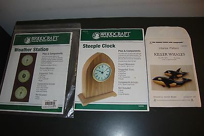 Lot Of 5 Different Woodworking Patterens