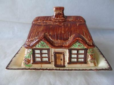 Rare Burlington Ware J Shaw & Sons Cottage Ware Large Butter Cheese Dish & Cover