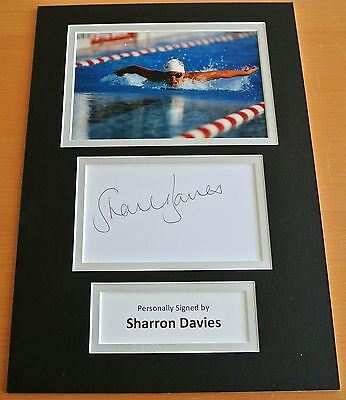 Sharron Davies Hand Signed Autograph A4 Photo Display Swimming Perfect Gift Coa