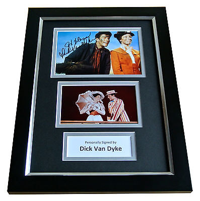 DICK VAN DYKE Signed A4 FRAMED Photo Autograph Display MARY POPPINS Film & COA