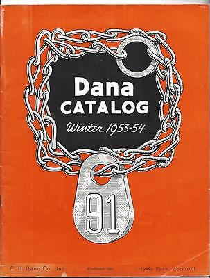 DANA CATALOG 1953-54 C.H.Dana Co. Hyde Park VT, Livestock Equipment & Supplies