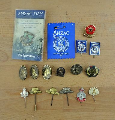 Lot of Vintage & Newer ANZAC Day Badges / Pins