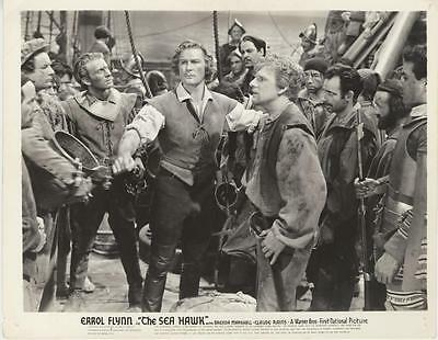 """the Sea Hawk""-Original Photo-Errol Flynn-On Ship"