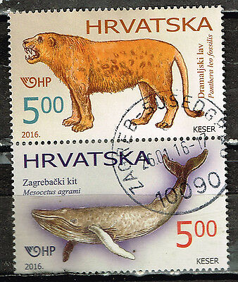Croatia Fauna Prehistoric Animals stamps 2016