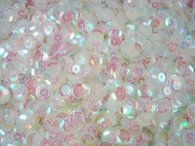Sequins Cup 8mm Clear AB 20g Dance Costumes Bead Stage FREE POSTAGE