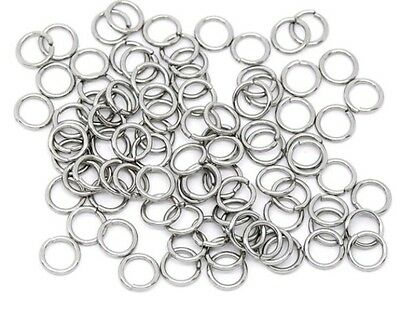 100 stainless steel 7mm x 1mm jump rings Won't rust or tarnish Aussie seller