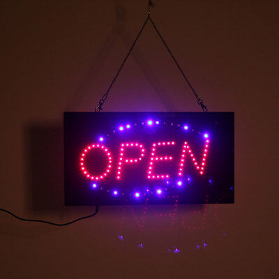 Hanging LED Open Sign Color Display Scrolling Animated Outdoor Neon Flashing