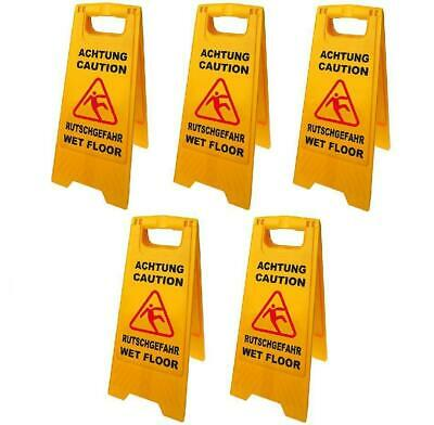 5 Piece Warning Sign Attention Danger of Slipping 58cm Smooth New