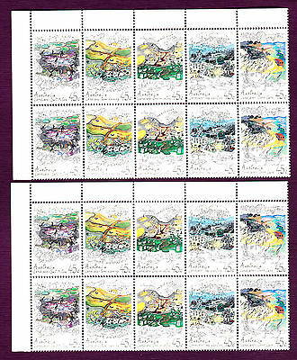 1992 Australia : 45c Stamps  Landcare Block of 20 MNH  2 Sheets