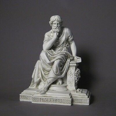 Socrates ancient Greek Philosopher Bust Sculpture Museum Replica Reproduction