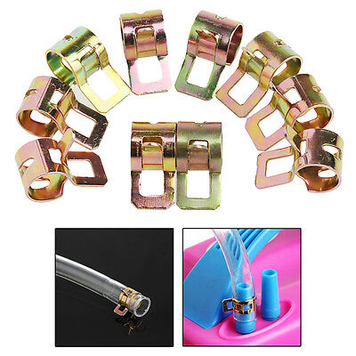 New 10Pcs 7mm Spring Clip Fuel Line Hose Water Pipe Air Tube Clamps Fastener