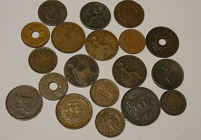 Mostly British Commonwealth copper coinage selection 1800s-1950s