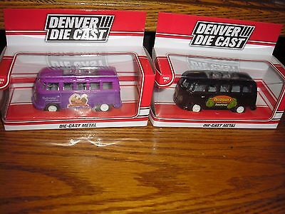 "Lot of 2 Different 1/50 ? 3 1/2"" long 1970's VW Split Window Bus Vanagon KOMBI"