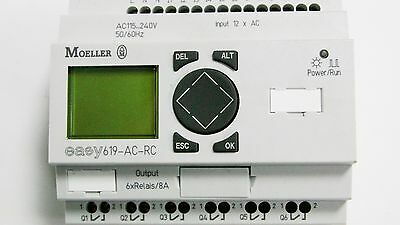 Moeller EASY619-AC-RC LCD Control Relay & EASY619-AC-RCX Relay or Relay Output
