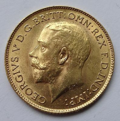 George V gold 1913 Half Sovereign coin higher grade - 1053