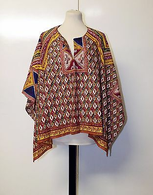 African Dashiki Style Open Colourful Yellow Red Blue Shirt Top