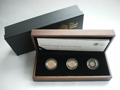 Royal Mint UK 2011 Gold Proof Sovereign 3 Coin Set