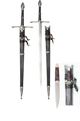Lord of the Rings Ranger Aragorn Sword of Strider w/ Scabbard Knife SB3299/GB4