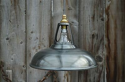 Vintage Antique Zinc Coolicon Ceiling Light Vented Hanging Lamp Shade Zcg3