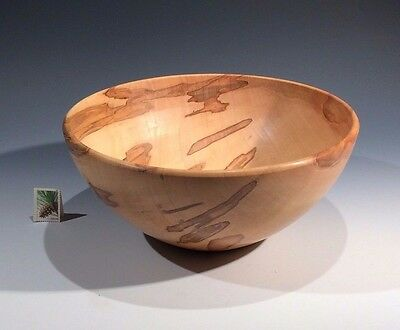 Figured Silver Maple RUSTIC (Large) Hand Turned Wood Bowl SMITHSONIAN Walsh