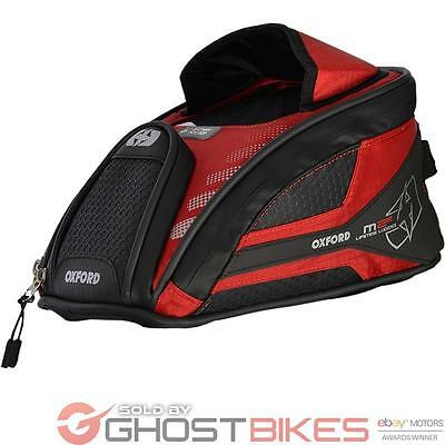 Oxford OL286 M2R Motorcycle Mini Tank Bag Red 2 L Compact Bike Magnetic Luggage