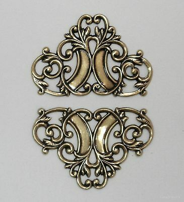 #4005 ANTIQUED GOLD CELTIC OPEN FILIGREE/FLOURISH - 4 Pc Lot