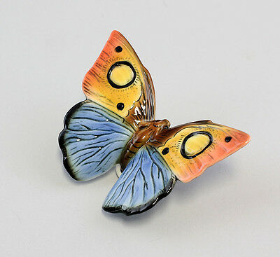 a3-41151 Porcelain figure Butterfly yellow red blue ENS Thuringia