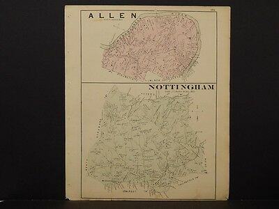 Pennsylvania, Washington County Map, 1876 Town of Allen, Nottingham N6#10