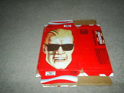 Vtg Rare Max Headroom Coca-Cola Coke 12 Pack Box With Cut-Out Halloween Mask