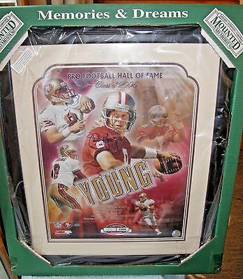 Framed Signed Steve Young SF Giants Limited Ed 2005 Hall of Fame Print NIB 16x20