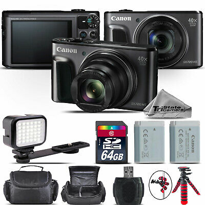 Canon PowerShot SX720 Digital Camera 20.3MP 40x Optical NFC / WiFi - 64GB Kit