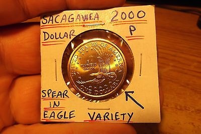 2000 P Sacagawea Dollar Speared Eagle Variety ........ Free Shipping