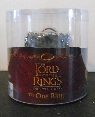 LORD OF THE RINGS Two Towers THE ONE RING New In Box with Light-Up Base
