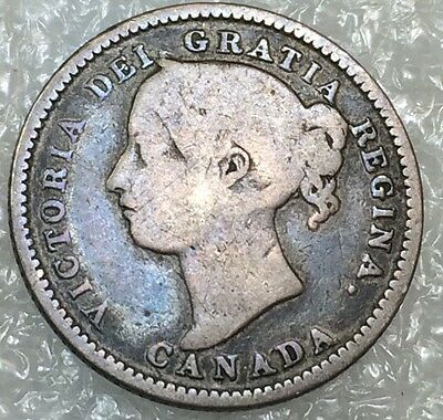 1887 Canada Ten Cents ~  Very Tough Date