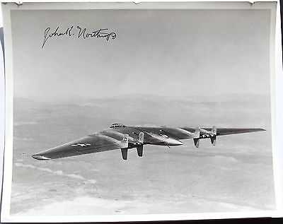 Jack Northrop Aviation Pioneer Autograph Signed Photo Designed The Flying Wing
