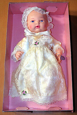 """Vintage Horsman 13"""" Bye-Lo Baby Doll in Christening Outfit - New in Box"""