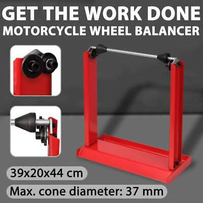 New Motorcycle Wheel Balancing Stand Motorbike Balancer Tyre Truning Heavy Duty