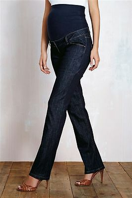 Next Ladies Jeans Maternity 12 R New BNWT Over The Bump Skinny Slim £24 Blue