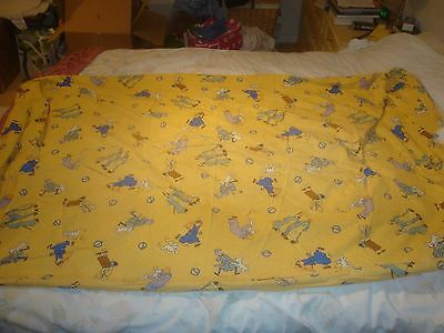 Tintin Fitted Sheet - Yellow with scenes from The Cigars of the Pharaoh