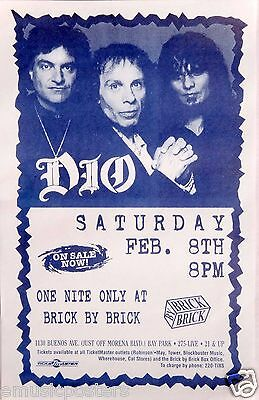 RONNIE JAMES DIO 1997 SAN DIEGO CONCERT TOUR POSTER-Heaven & Hell, Black Sabbath
