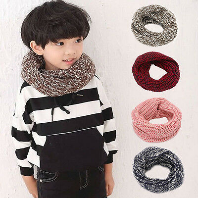 Cute Children Baby Boy Girl Winter Warm Knitting Scarf Soft Candy Color Scarf