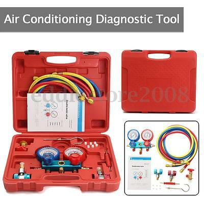 R-134A Air Conditioning AC Diagnostic A/C Manifold Gauge  Refrigeration Tool Set