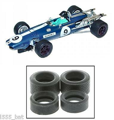 Scalextric W9588 Tyres 4 Pack 'New' Classic Grand Prix Car Gurney-Westlake F1