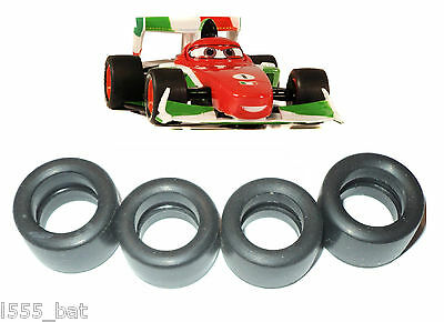 New Genuine Scalextric W10124 Tyres 4 Pack For Disney Cars Francesco Bernoulli