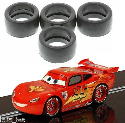 Genuine Scalextric W10128 Tyres 4 Pack 'New' For Disney Lightning McQueen C3186