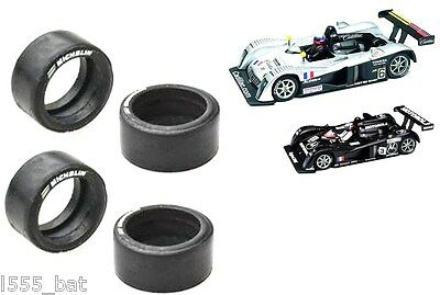 New Scalextric Spares W8461 Rear Tyres For Cadillac LMP1 Pack of 4 Michelin Logo