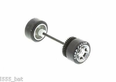 Genuine Scalextric Spares W9972 Ford GT Rear Wheels Tyres Gear & Axle C2995 New