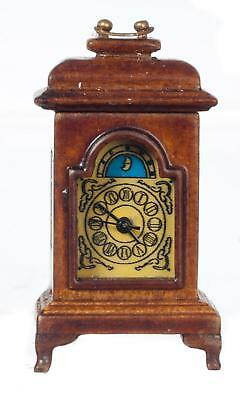 Dolls House Working Walnut Carriage Clock Miniature JBM Accessory 1:12 Scale